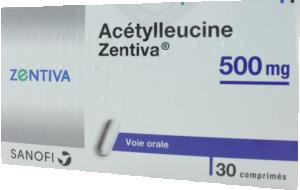 Acetylleucine zentiva 500 mg, comprimé